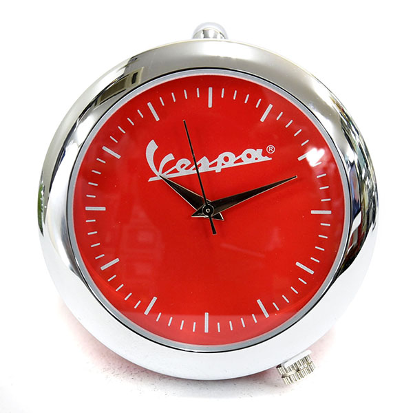 Vespa Official headlight Clock(Red)