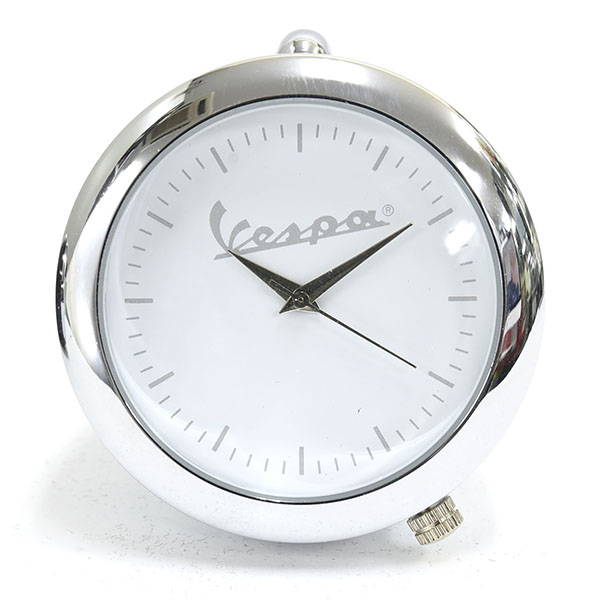 Vespa Official Headlight Clock(White)