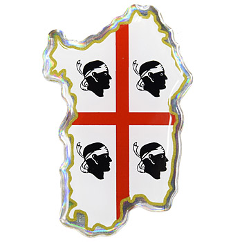 City Symbol 3D Sticker-SARDEGNA-