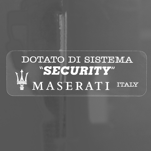 MASERATI Security Sticker(White)