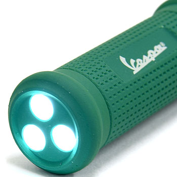 Vespa Official Handle Grip Shaped LED Light Keyring(Green)