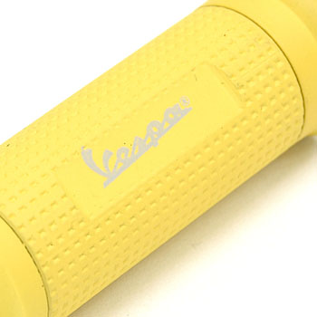 Vespa Official Handle Grip Shaped LED Light Keyring(Yellow)