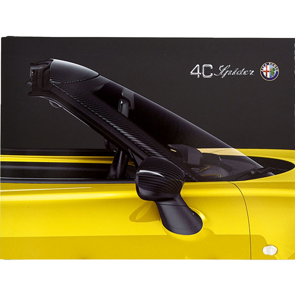 Alfa Romeo 4C Spider Leaflet Catalogue