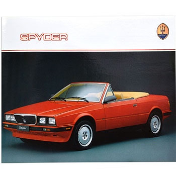 MASERATI Spyder Catalogue(Re-Print)