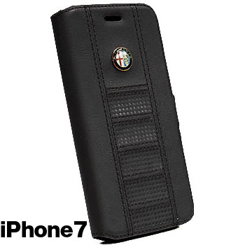 Alfa Romeo iPhone7/6/6s Book Type Case(Black)<br><font size=-1 color=red>09/07到着</font>