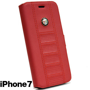 Alfa Romeo iPhone7/6/6s Book Type Case(Red)<br><font size=-1 color=red>09/07到着</font>