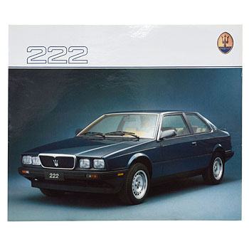 MASERATI 222 Catalogue(Reprint)