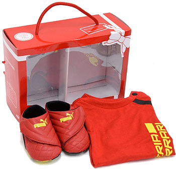 Ferrari Baby Shoes & T-Shirts Set by PUMA