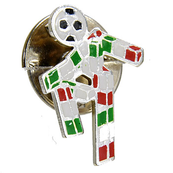 ITALIA 90 Pin Badge -Sterling Silver-