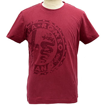 Alfa Romeo純正ヴィンテージプリントTシャツ(レッド)<br><font size=-1 color=red>09/20到着</font>