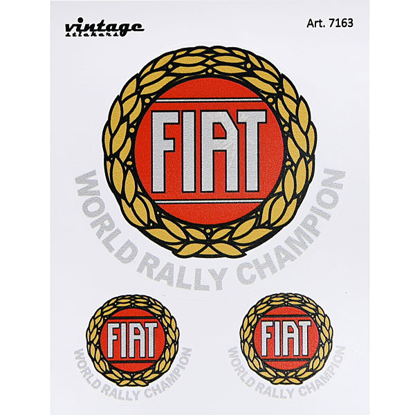 FIAT World Rally Champion Vintage Type Sticker Set