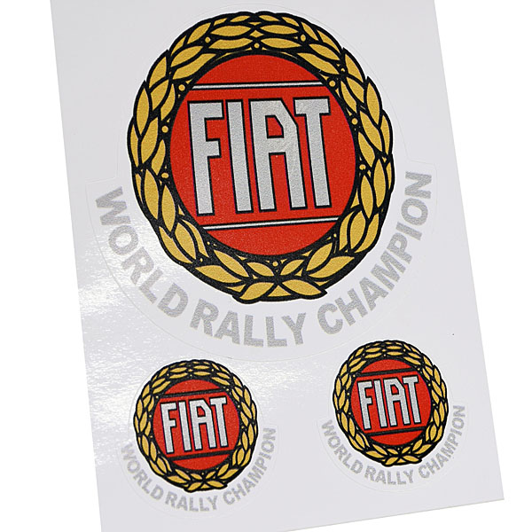 FIAT World Rally Championヴィンテージタイプステッカーセット