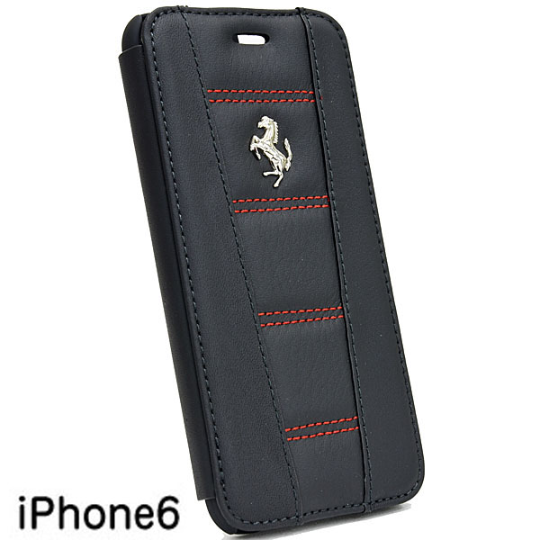 Ferrari iPhone6/6s Leather book type case-Black-(458 ITALIA 2)