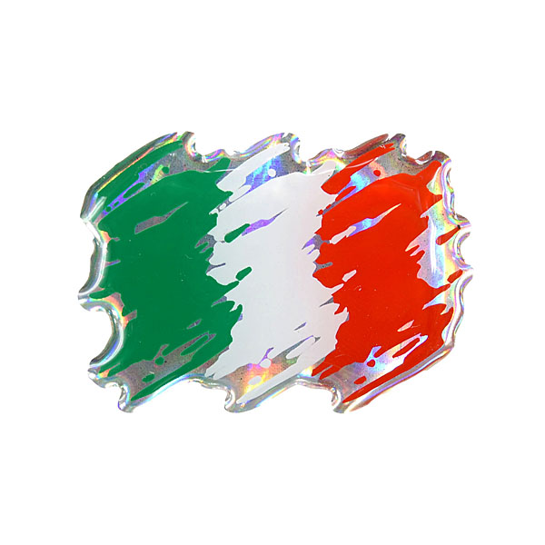 Italian Flag 3D Sticker(Brush)