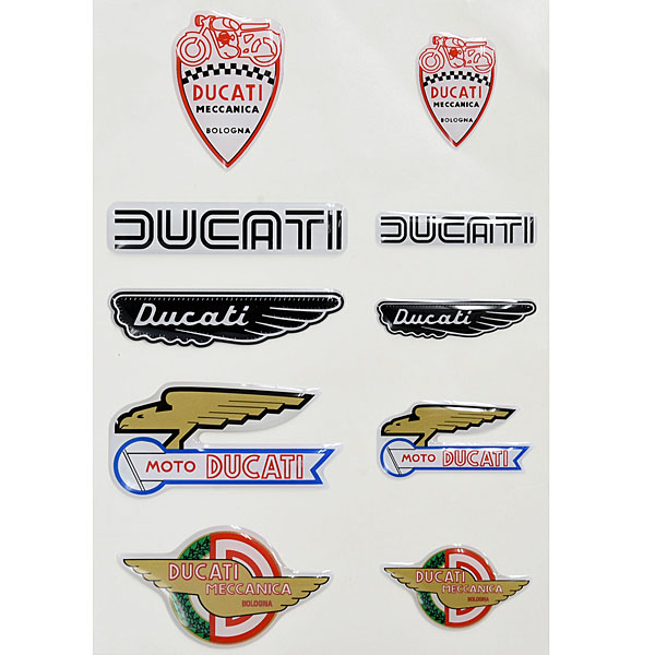 DUCATI純正3Dステッカーセット-HISTORICAL MIX-<br><font size=-1 color=red>04/30到着</font>