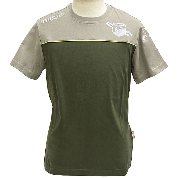 ABARTH bi-color T-shirts(Military) by Kappa