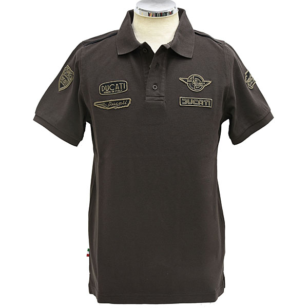 DUCATI Polo Shirts-HISTORICAL/Brown-