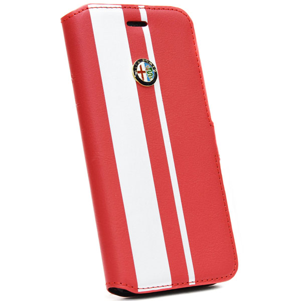 Alfa Romeo iPhone6/6s Book Type Case(Red/Silver)
