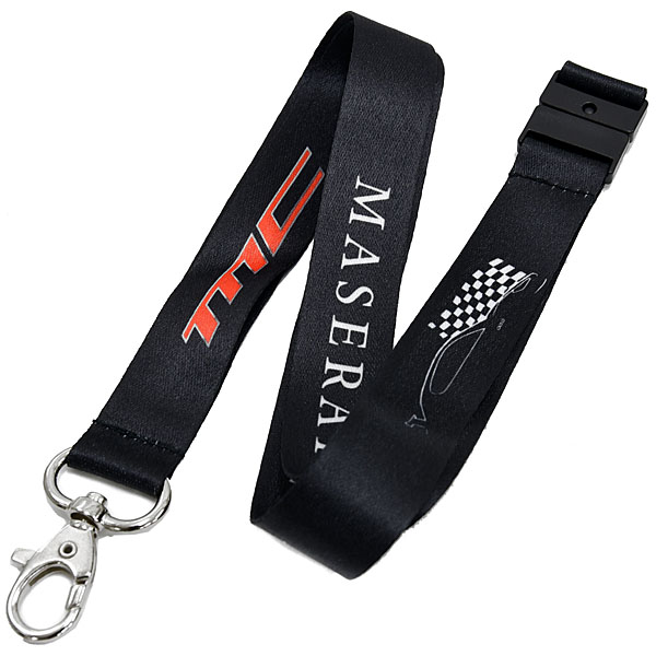 MASERATI Neck Strap (MC Logo) Black