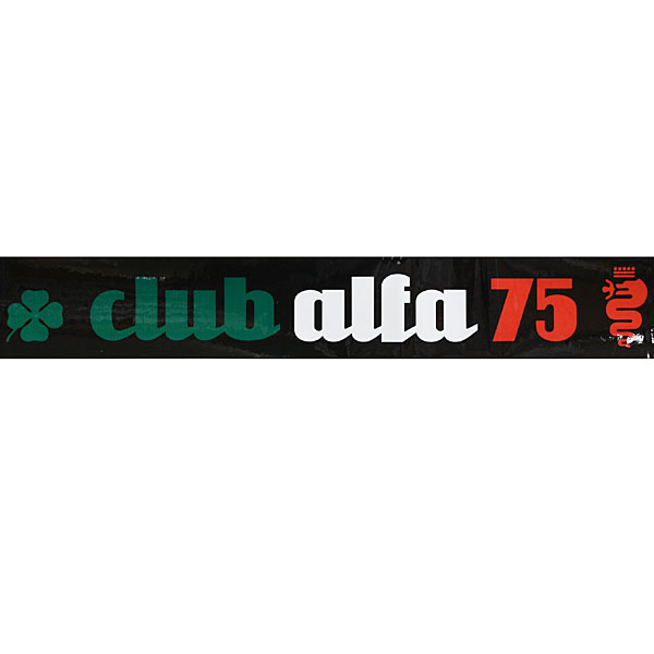 CLUB Alfa 75 Window Sticker