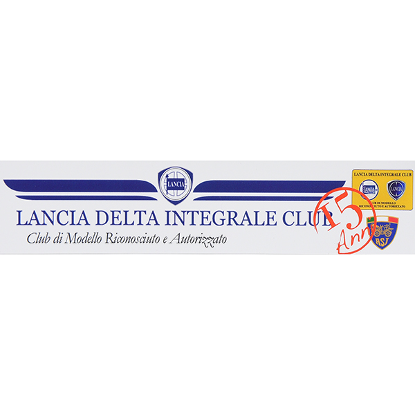 LANCIA DELTA Integrale Club 15anni Memorial Sticker