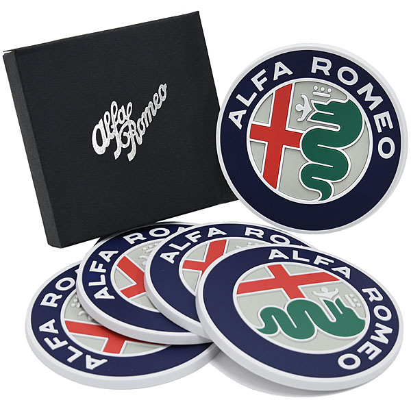 Alfa Romeo New Emblem Coaster Set<br><font size=-1 color=red>11/15到着</font>