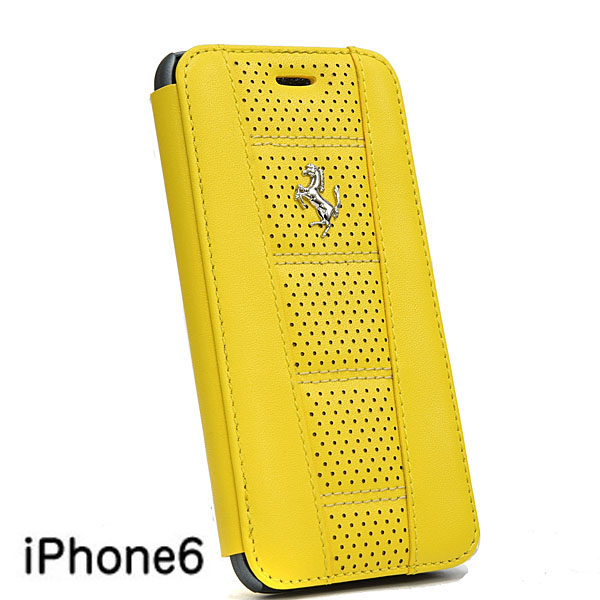 Ferrari iPhone6/6s Book Shaped Leather Case-458/Yellow-