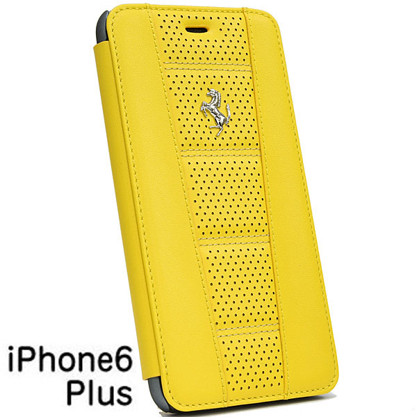 Ferrari iPhone6/6s Plus Book Shaped Leather Case-458/Yellow-