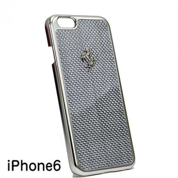 Ferrari iPhone6/6s Real Carbon Case(Silver)