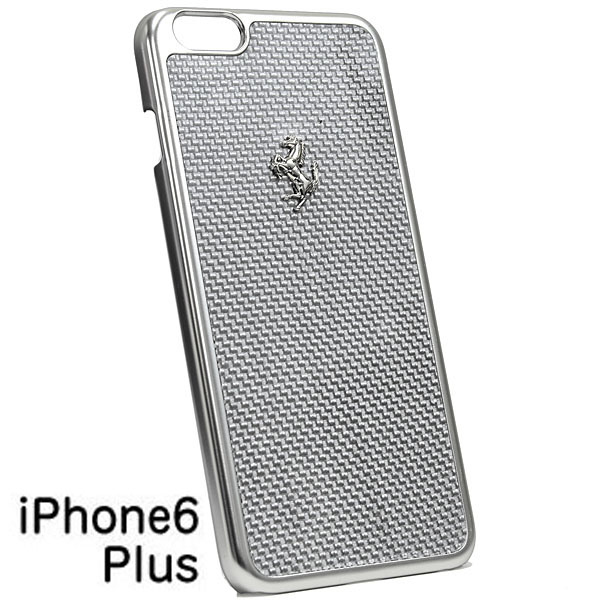 Ferrari iPhone6/6s Plus Real Carbon Case(Silver)