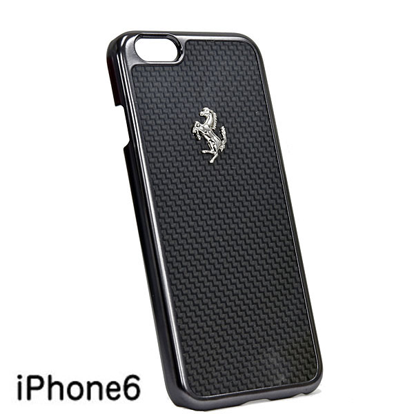 Ferrari iPhone6/6s Real Carbon Case(Black)