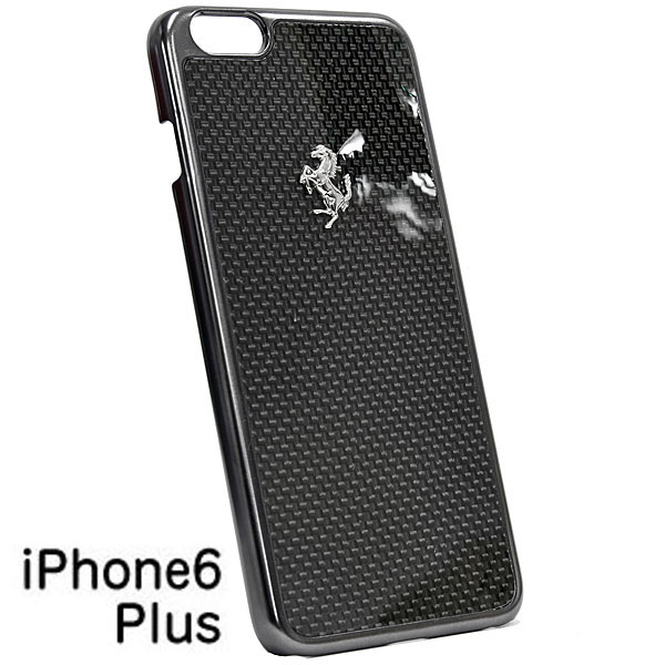 Ferrari iPhone6/6s Plus Real Carbon Case(Black)