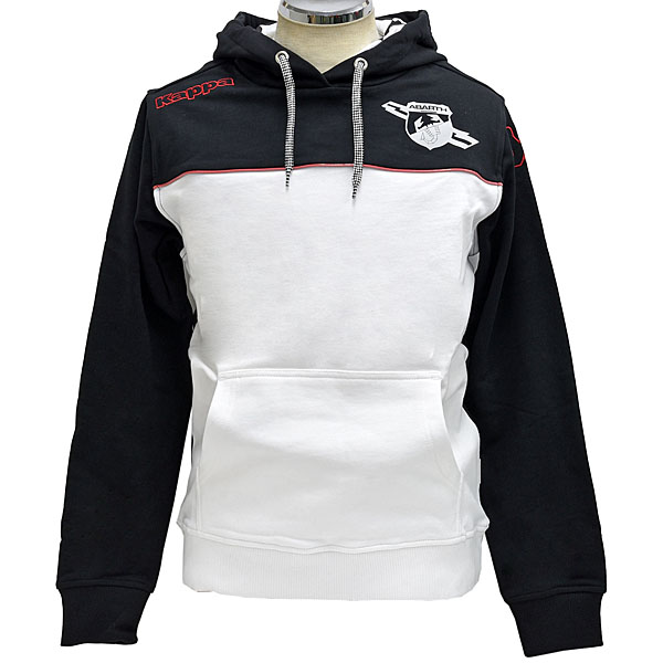 ABARTH Bi-Colour Hooded Felpa(White & Black) by Kappa
