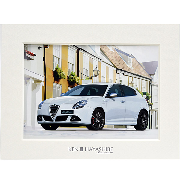 Alfa Romeo Giulietta(White)  Illustration by Kenichi Hayashibe