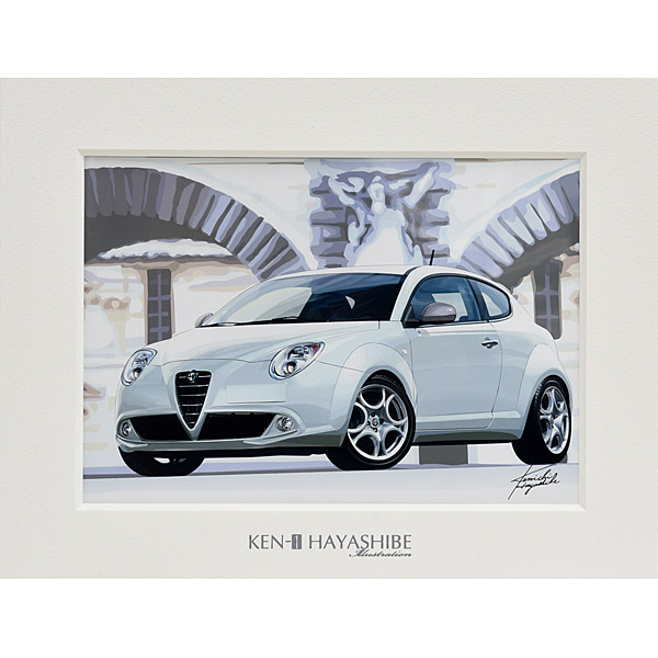 Alfa Romeo MiTo (White) Illustration by Kenichi Hayashibe