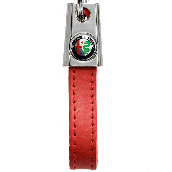 Alfa Romeo Strap Shaped Keyring(New Color Emblem/Red)