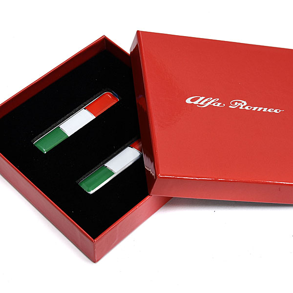Alfa Romeo Italian Flag Badge
