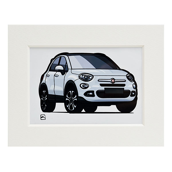 FIAT 500X Small Illustration (White) by Kenichi Hayashibe