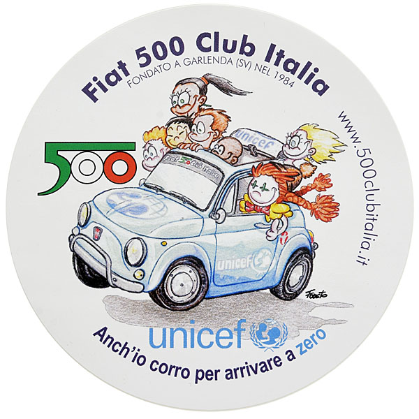 FIAT 500 CLUB ITALIA-unicef Sticker<br><font size=-1 color=red>02/09到着</font>