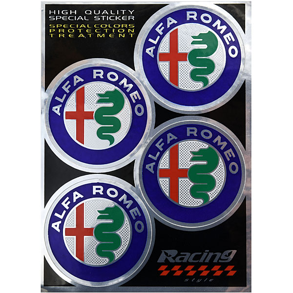 Alfa Romeo New Emblem Stickers Set(4pcs.)