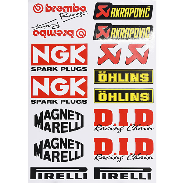 Sponsors Stickers Set(Brembo)