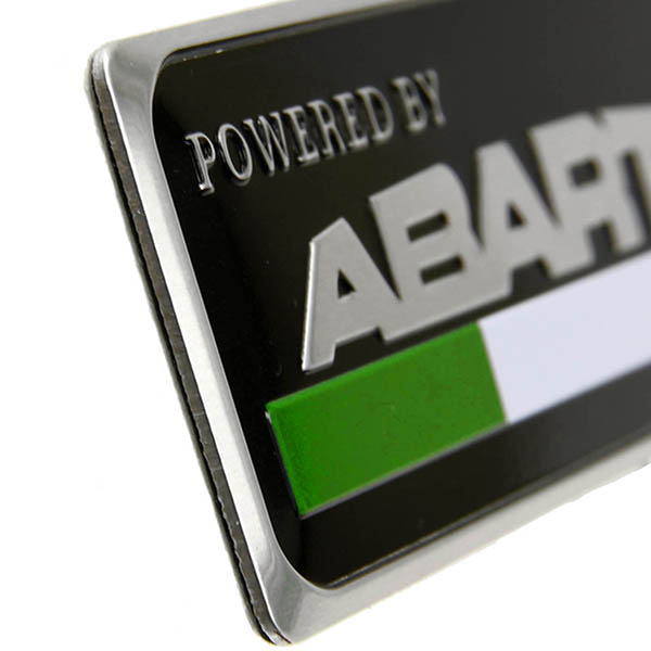 Powered by ABARTHアルミプレート