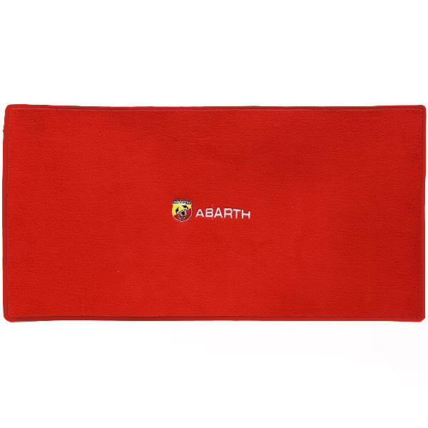 FIAT 500/ABARTH 500 Luggage Mat(Red/ABARTH Logo/Black Piping)