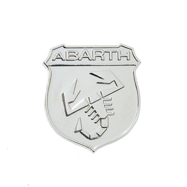 ABARTH純正エンブレムピンバッジ(シルバー)<br><font size=-1 color=red>11/14到着</font>