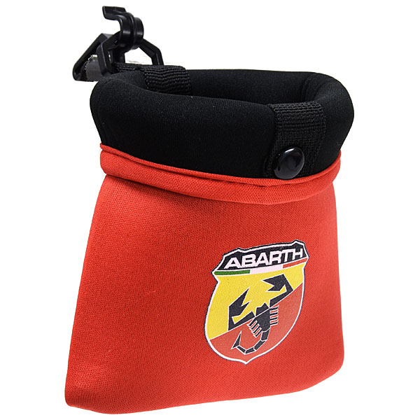 ABARTH Small Pocket with Hook (Red / Color Emblem)