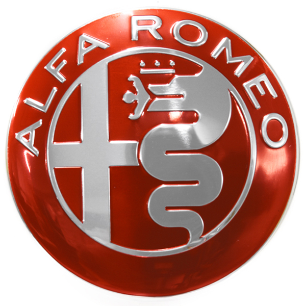 Alfa Romeo New Aluminium Emblem(Red)