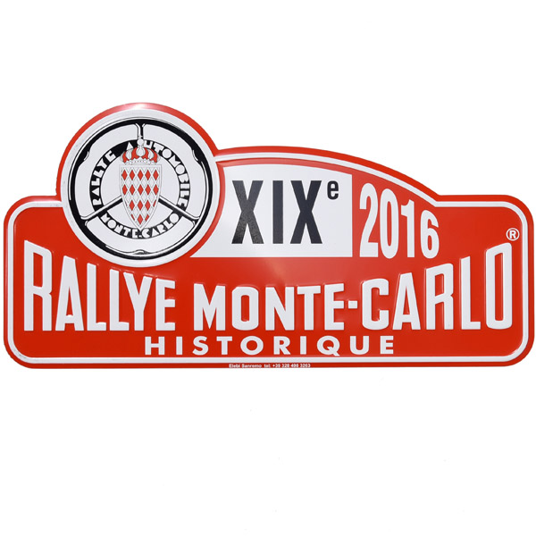 Rally Monte Carlo Historique 2016 Official Metal Plate(Large)