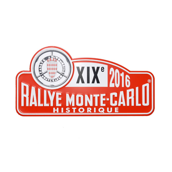 Rally Monte Carlo Historique 2016 Official Metal Plate(small)