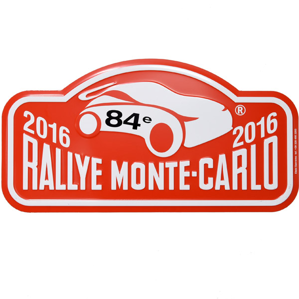 Rally Monte Carlo 2016 Official Metal Plate(Large)