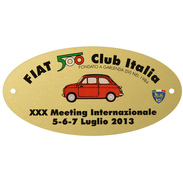 FIAT 500 CLUB ITALIA 2013 Meeting Pin Badge